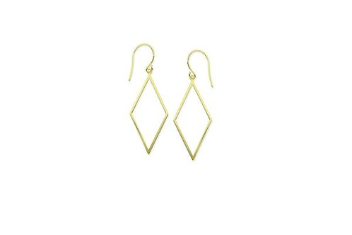 DRAW THE LINE DIAMOND SHAPE EARRINGS