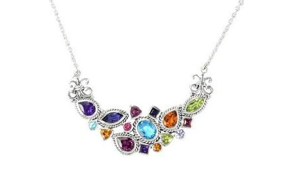 SS MULTI GEMSTONE NECKLACE