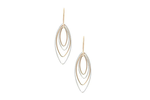 SS AND ROSE GOLD PLATED BARBARA EARRINGS