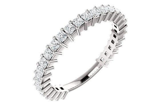 14K Gold 1-ctw Princess Diamond Anniversary Band