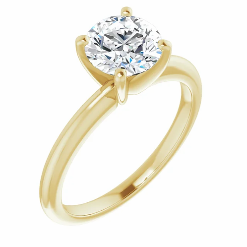 14K 7 mm Round Forever One™ Moissanite Engagement Ring