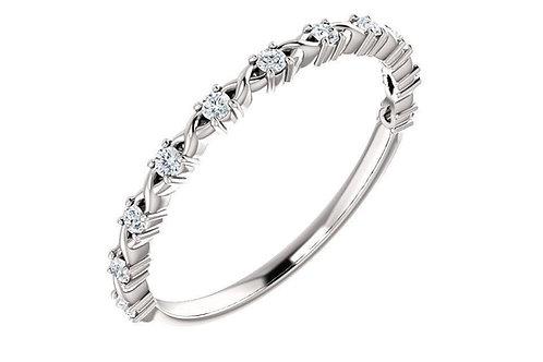 14K Gold Diamond Wedding - Anniversary Band 123626