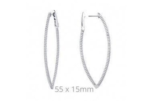 Open Hinged Marquee Shape Earring E3001CLP00