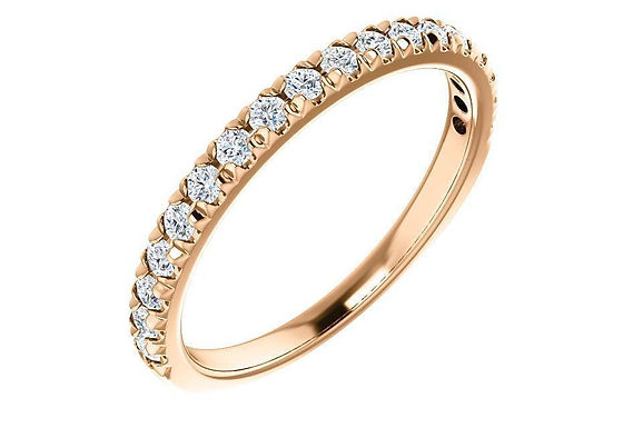 14K 1/3 CTW Moissanite French-Set Anniversary / Wedding Band 123883