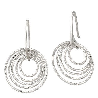 STERLING SILVER 3D CIRCLES EARRING