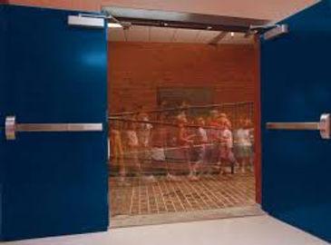 Double doors with Sargent door cosure