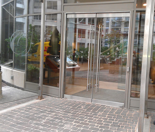 Automatic all glass doors in a condo. Toronto