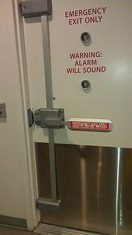 Fire exit door with high security door hardwere