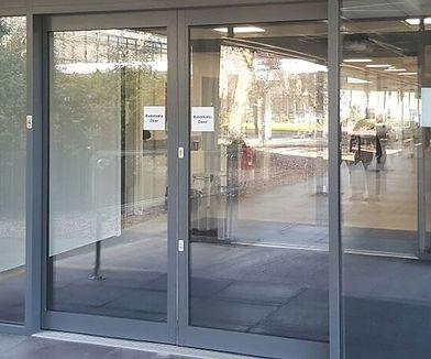 Aluminum glass doors centre hung pivots