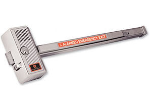 Detex exit alarm panic bar