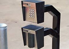 Gate access gooseneck with double readers