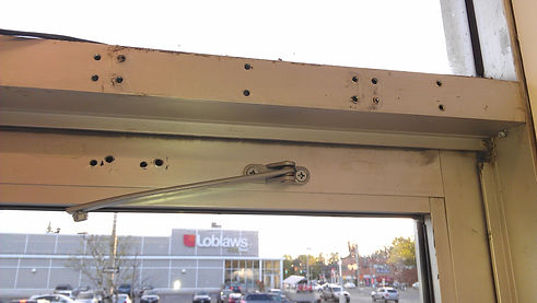 Commercial door and frame damaged from wrong doo closure