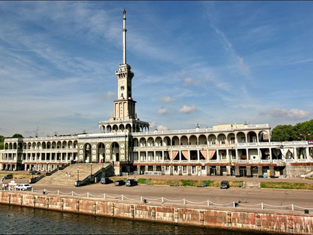Архитектура северного речного вокзала.