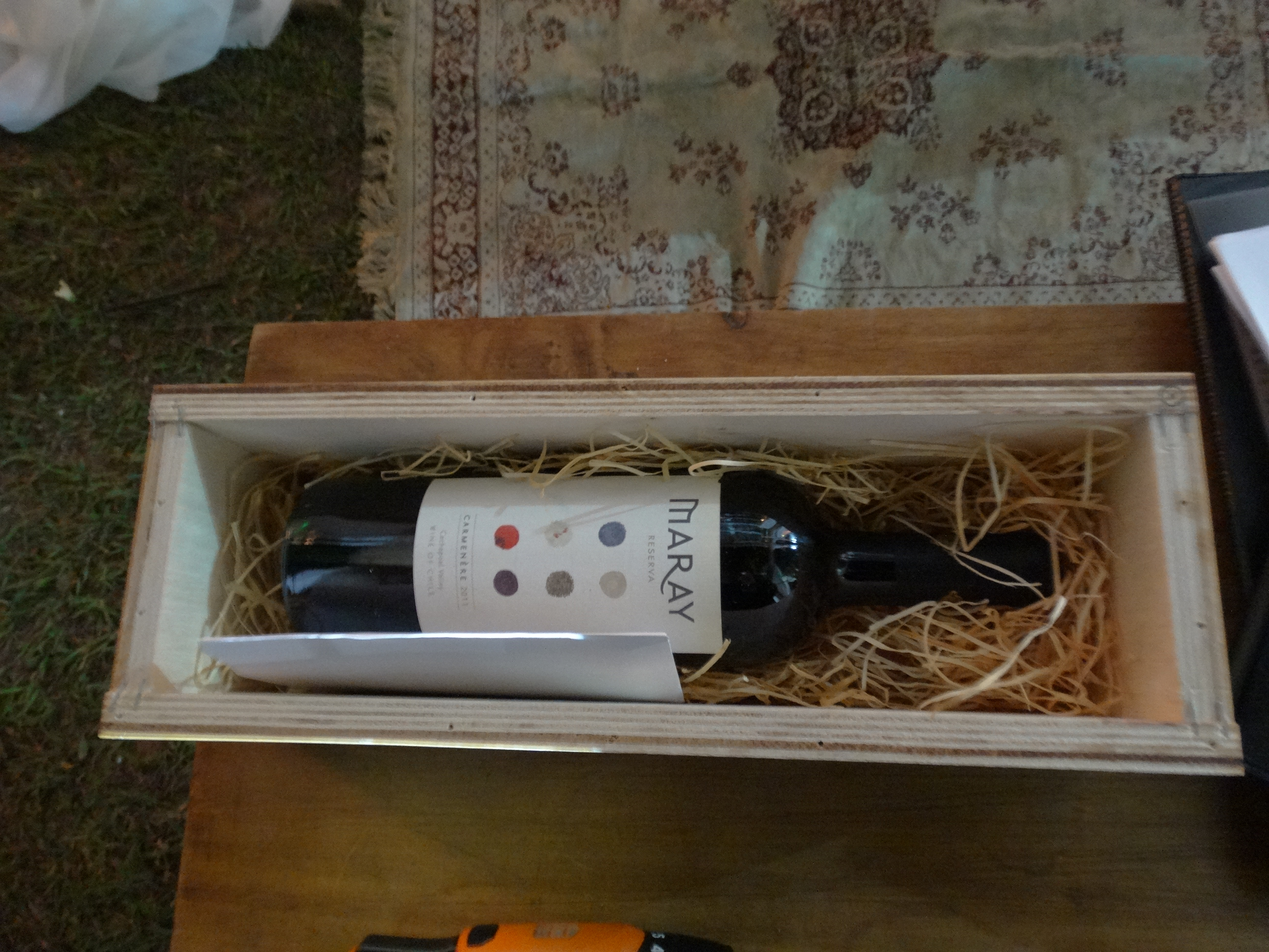 Cerimônia da caixa de vinho