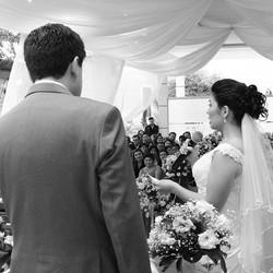 A cerimônia de Daniela e Maurício
