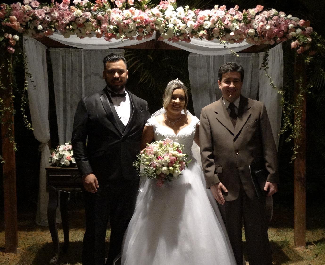 Noivos Douglas e Cristina