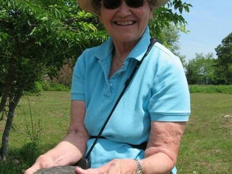 Charlotte Sornborger receives the Diamondback Terrapin Working Group Citizen Conservation Award