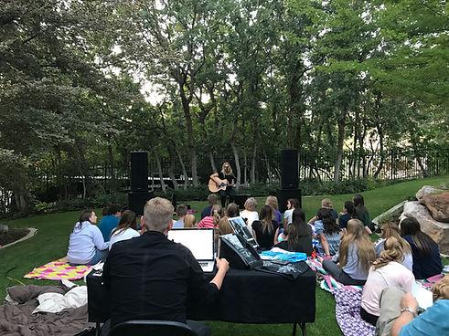 Margie Chadburn retreat in Backyard for