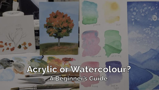 Watercolour vs Acrylic Paint: A Guide for Beginners
