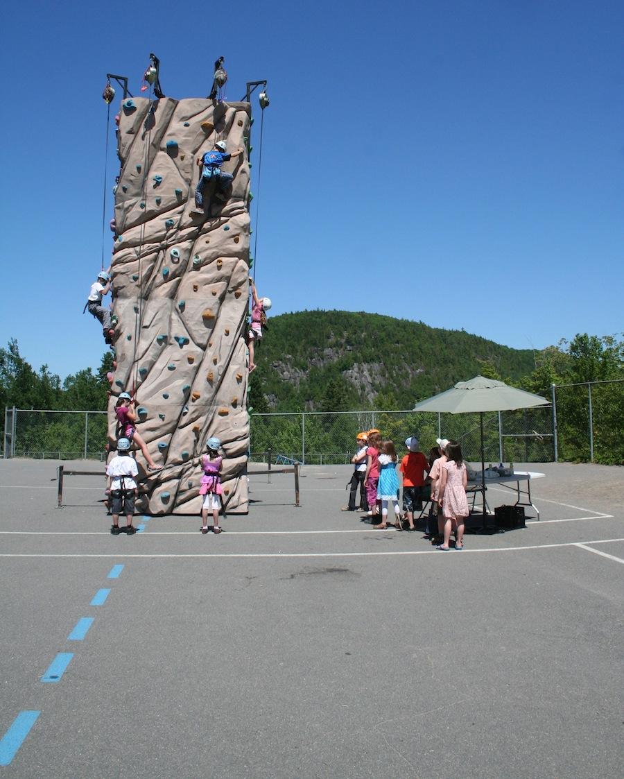 Location de tour d'escalade mobile