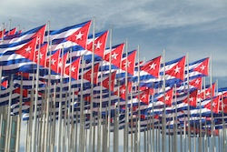Drapeau de Cuba à La Havane