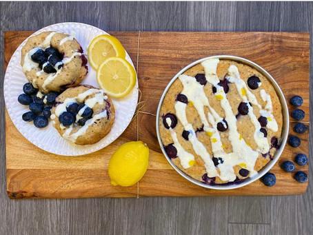 Lemon Blueberry Cake with Honey Ricotta Drizzle