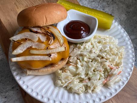 Texas Burgers with Cole Slaw