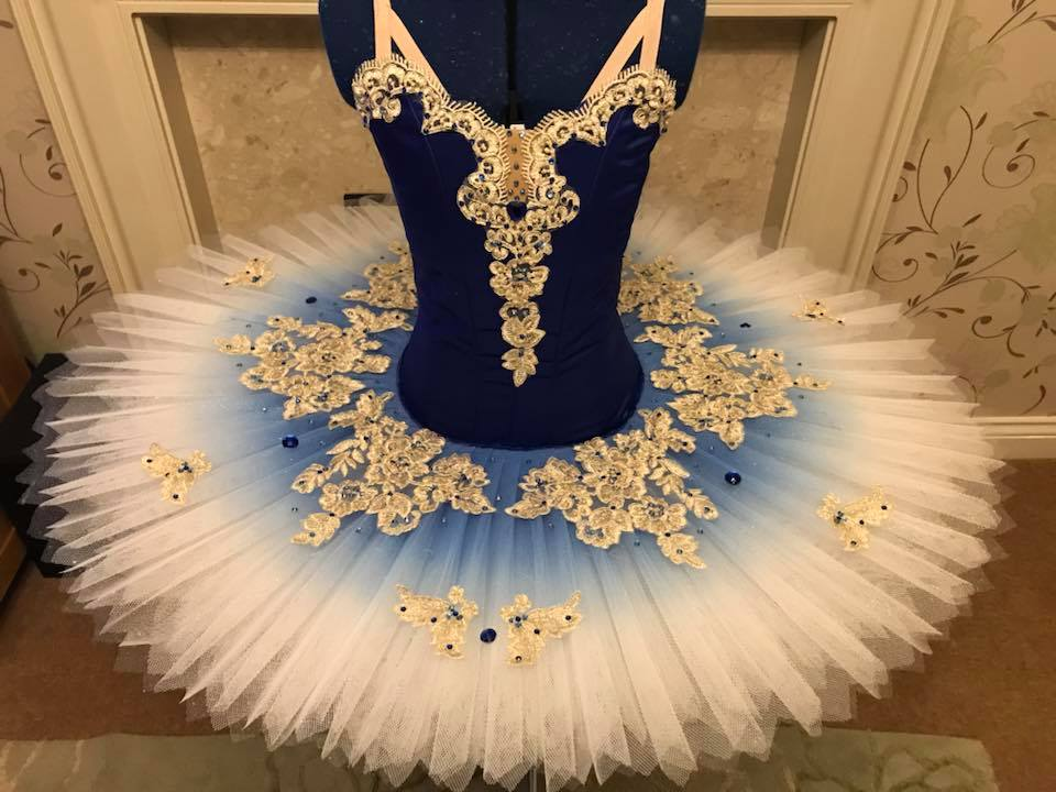 Deep blue and gold tutu