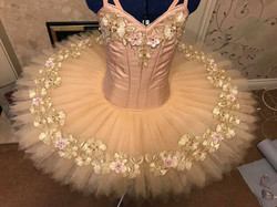 Gold and pink tutu