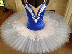 Royal Blue with shade skirt