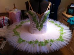 White and green ballet tutu