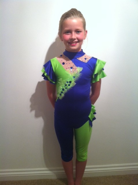 Blue and green modern costume