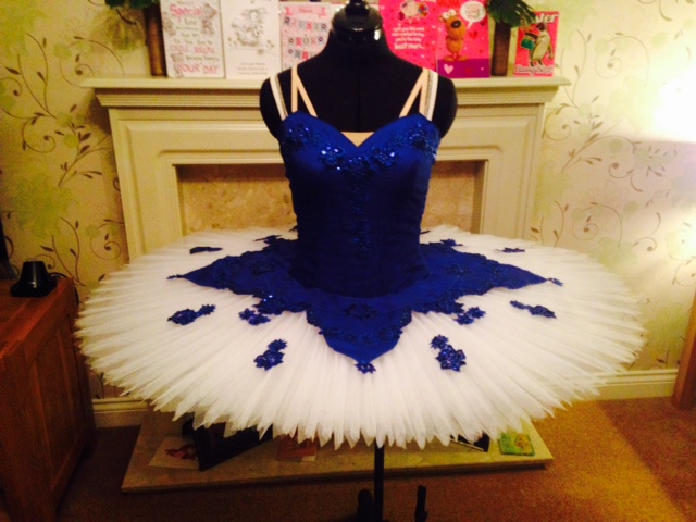 Blue Tutu skirt topper