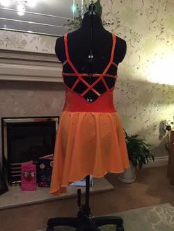 sunshine dance costume back view