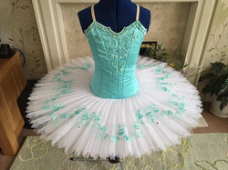 Pale Green with white tutu skirt