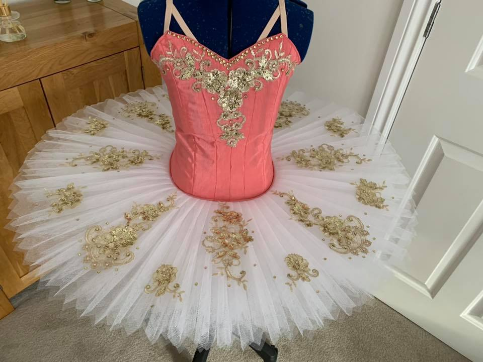 Peach and gold tutu