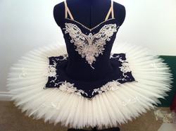 Navy Blue and cream net