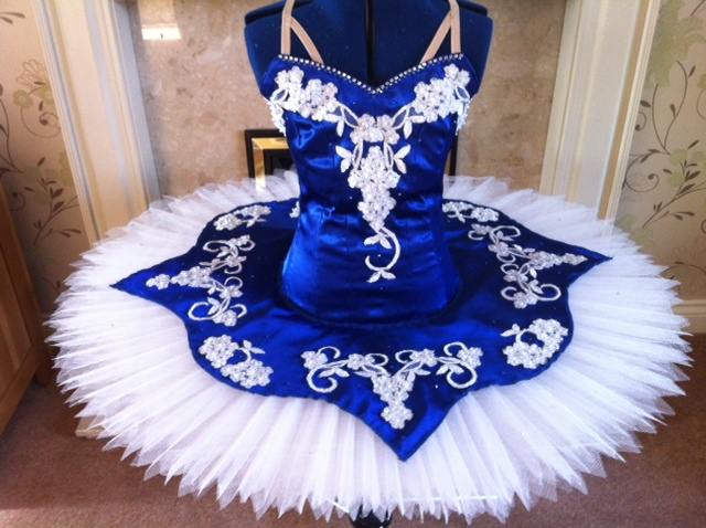 grace brown blue tutu
