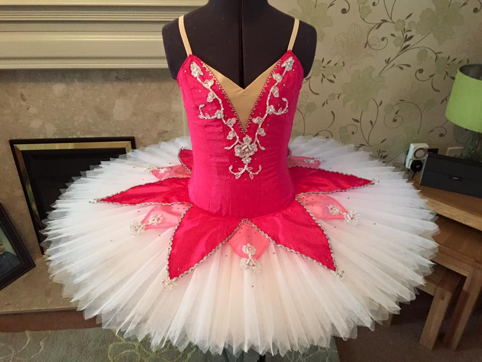 Shades of pink tutu with silver