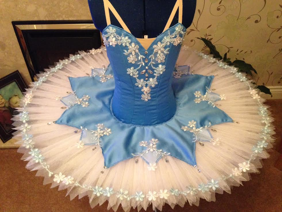 Blue and light blue tutu