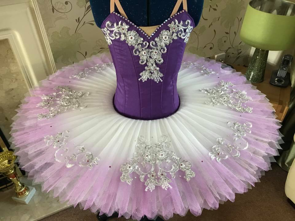 Purple and silver tutu