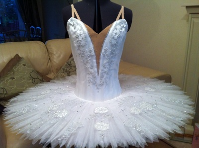 White and Silver decorated tutu