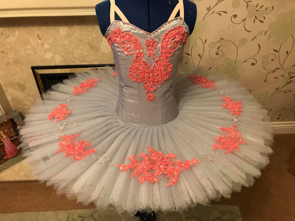 Grey and peach tutu