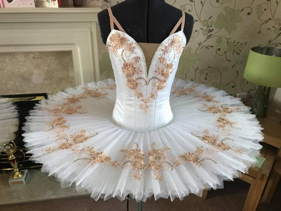 White and rose gold tutu