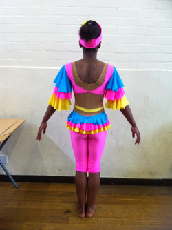 back view design modern costume