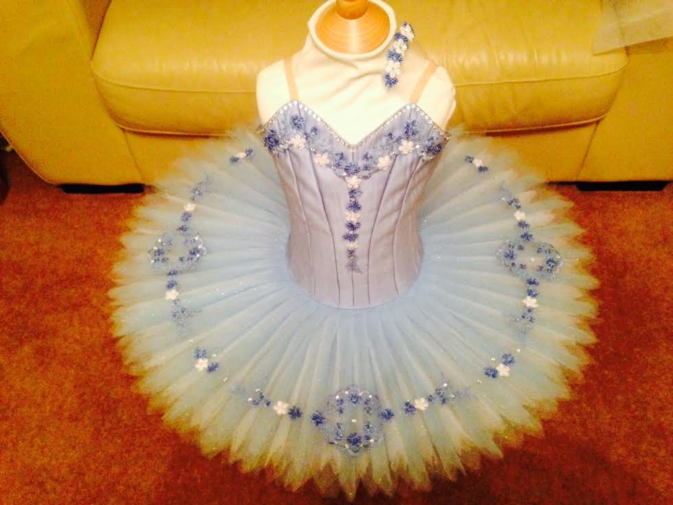 Blue and White Childs Tutu