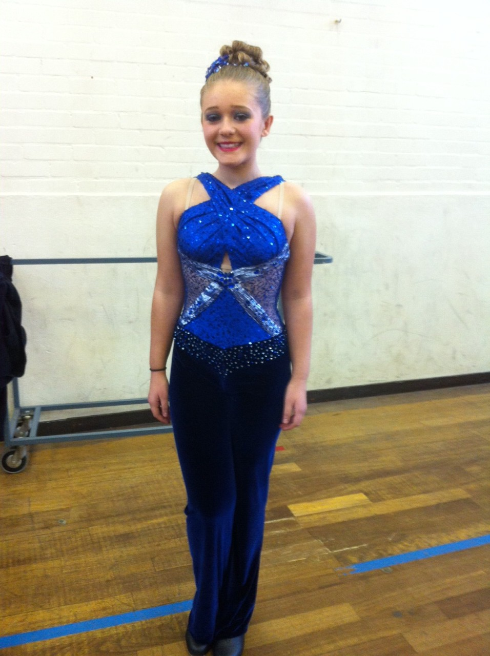 Sparkly blue tap costume