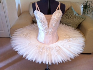 Champagne tutu with V neck