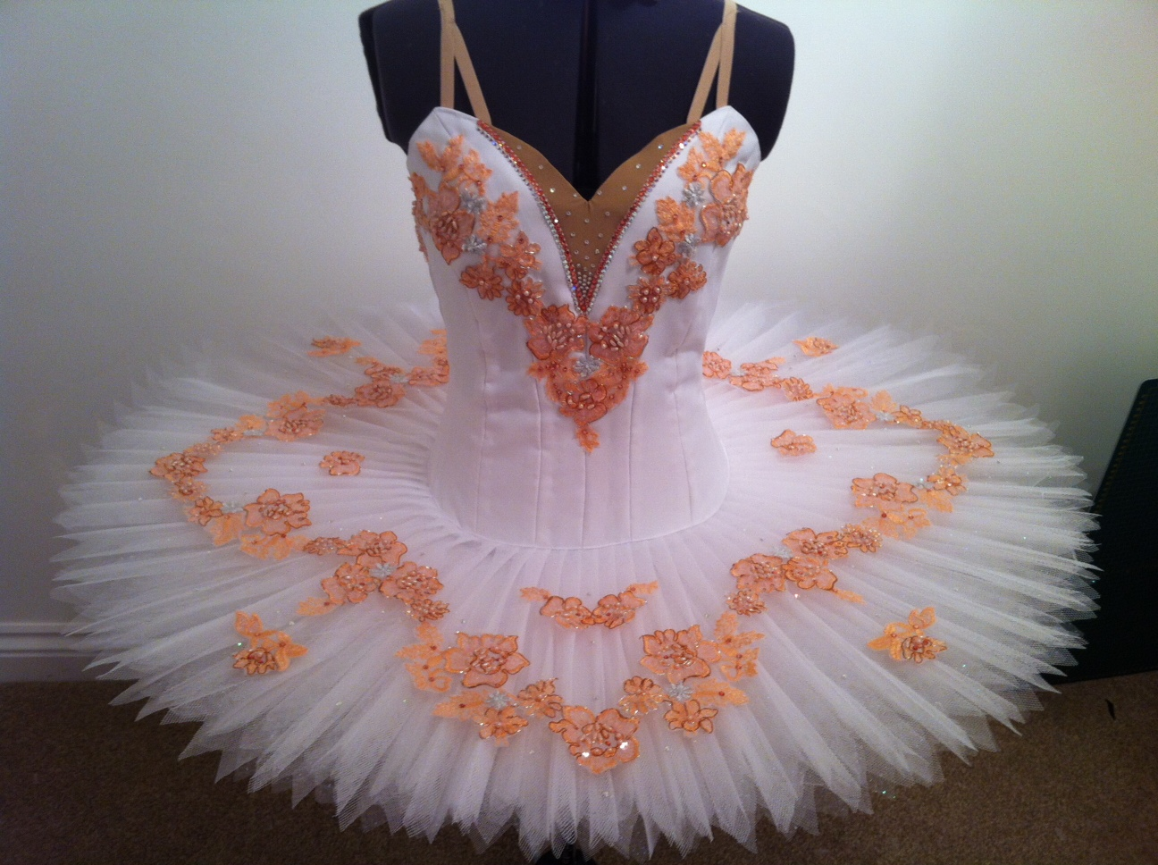 White and Peach Ballet Tutu