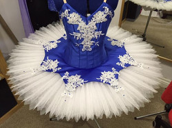 Blue with blue plate tutu